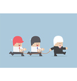 Group of business slave following businessman Lead vector image vector image