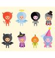 halloween costumes vector image vector image