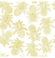 hand drawn sketch of pineapple seamless vector image vector image
