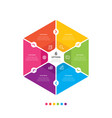 hexagon chart infographic template with 6 options vector image vector image