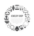 jewelry shop diamond accessories banner vector image vector image