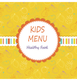 Kid menu vector image