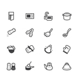 kitchen element black icon set on white background vector image vector image