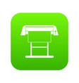 large format inkjet printer icon digital green vector image vector image