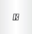 letter k black gradient logo vector image vector image