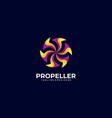 logo abstract propeller gradient colorful style vector image vector image