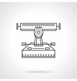 Longboard truck flat line icon vector image vector image