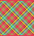madras diagonal plaid pixeled seamless pattern vector image vector image