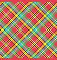 madras diagonal plaid pixeled seamless pattern vector image