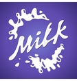 Milk label Splash and blot design shape vector image vector image