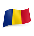 national flag of chad blue yellow and red vector image vector image