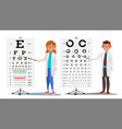 ophthalmology doctor set female male vector image vector image