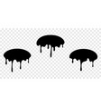 paint drip stickers or oval labels liquid vector image