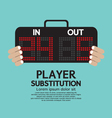 Player Substitution Sport vector image vector image