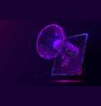 purple digital marketing low poly wireframe