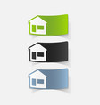 realistic design element house vector image vector image
