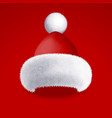 realistic santa claus white beard isolated vector image vector image
