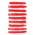 Red acrylic brush strokes vector image