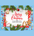 rustic christmas festive template vector image vector image