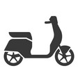 scooter black icon city vehicle and sport vector image