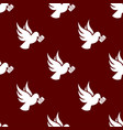 seamless dove pattern love symbol from icon vector image vector image