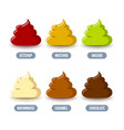 set condiment icons placed on white background vector image