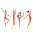 Set of young beautiful dancers in tights and vector image vector image