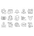 set science icons such as message employees vector image vector image