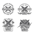 set surfing emblems vector image