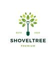 shovel tree sprout garden leaf logo icon vector image