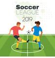 soccer championship design element vector image vector image