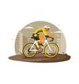 Sport athlete cyclist vector image