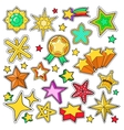 Stars Golden Decorative Elements for Stickers vector image vector image