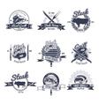 Steak House Emblems Set vector image vector image