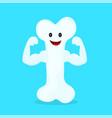 strong happy healthy bone character vector image vector image
