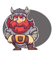 strong hero image fantasy dwarf or viking vector image