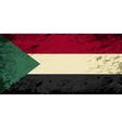 Sudanese flag Grunge background vector image vector image