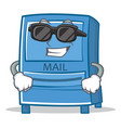 super cool mailbox character cartoon style vector image vector image