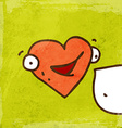 Talking Love Heart Cartoon vector image vector image