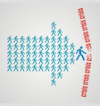 teamwork concept - the crowd of workers follows vector image vector image