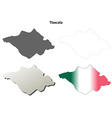 Tlaxcala blank outline map set vector image vector image