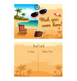 travel postcard vector image