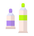 two paints bottles set flacons banner vector image