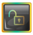 unlock grey icon with colorful details on white vector image vector image