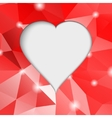 Valentines day Modern abstract background with red vector image vector image