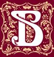 vintage letter B vector image