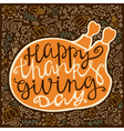 Vintage poster for thanksgiving vector image