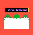 Virus in email and document with space