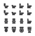 water closet icon set vector image vector image