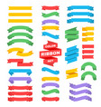 retro text ribbon banners in flat style vector image